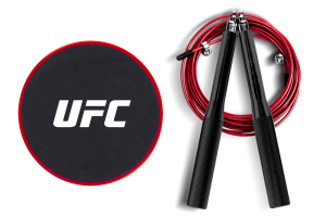 Набор для тренировки ног UFC (Скоростная скакалка и Слайдеры)
