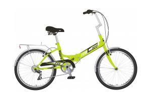 "Велосипед NOVATRACK 20"" складной, TG 30, зеленый, 6 скор. POWER, тормоз V-Brake, багажник"