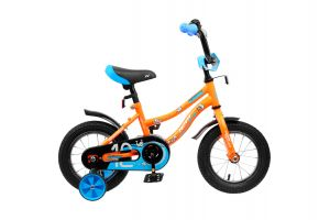 """Велосипед NOVATRACK 12"""" NEPTUNE оранжевый, полная защита цепи, тормоз нож., корот крылья, нет багажн"""