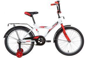 "Велосипед NOVATRACK 20"" ASTRA белый, тормоз нож, крылья, багажник, защита А-тип"