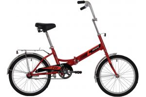 """Велосипед NOVATRACK 20"""" складной, TG20, красный, тормоз нож, AL обода, багажник"""