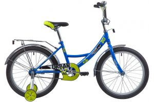 "Велосипед NOVATRACK 20"", URBAN, синий, защита А-тип, тормоз нож., крылья и багажник хром."